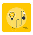 light bulb with plug on cord - icon electricity vector image vector image
