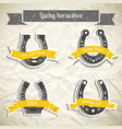 lucky horseshoe icon set vector image vector image
