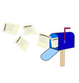 mailbox with lawsuits vector image vector image