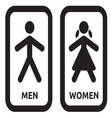 Man and women restroom sign vector image vector image