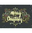 Merry Christmas retro poster with hand lettering vector image vector image