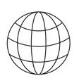 monochrome silhouette of world globe icon vector image vector image