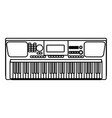 music keyboard instrument vector image