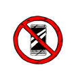 no cell phone sign vector image vector image