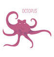 octopus with tentacles childish book character vector image