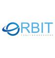 orbit logo vector image vector image