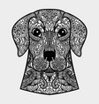 ornamental head of dog - a symbol of new year vector image