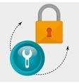 padlock key hand icon vector image vector image