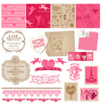Scrapbook Love Set of design elements vector image vector image