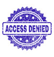 scratched access denied stamp seal vector image