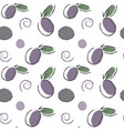 seamless fruit pattern plums with abstract vector image vector image