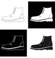 set of black and white mens shoes vector image vector image