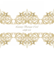 Vintage Invitation Card or banner with ornaments vector image