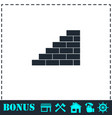 wall icon flat vector image vector image