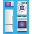 white appliances vector image vector image