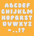 White paper style alphabet font vector image