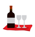 wine and wineglasses vector image