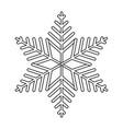 winter snowflake cartoon vector image
