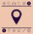 map pointer halftone logo vector image