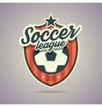 Soccer league badge vector image