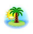 Sunny island icon isolated on white vector image