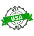 usa round ribbon seal vector image