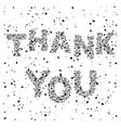 Thank you inscription vector image