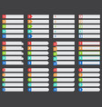 numbered ranked list template vector image