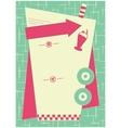 1950s Diner Inspired Background and Frame