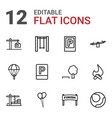 12 outdoor icons vector image vector image