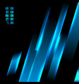 abstract blue color light oblique line technology vector image vector image