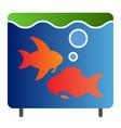 aquarium flat icon fish in aquarium color icons vector image
