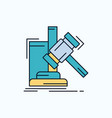auction gavel hammer judgement law flat icon vector image