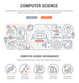 banner computer science vector image