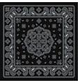 black bandana paisley fabric kerchief vector image vector image