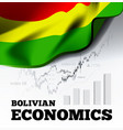 bolvian economics with bolivia vector image vector image