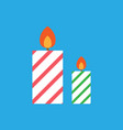 candles icon holiday symbol eps10 vector image