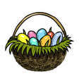 cartoon image of easter icons vector image vector image