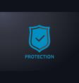 check shield icon symbol secure protection concept vector image vector image