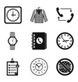 clock type icon set simple style vector image