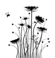 Collection for designers meadow in summertime vector image vector image