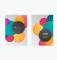 colorful brochure design template vector image