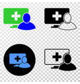 computer patient eps icon with contour vector image vector image