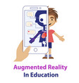 concept of the augmented reality educational app vector image