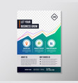 creative business brochure designs template vector image