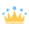 crown halftone dotted icon vector image