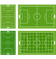 Different green football fields set vector image vector image