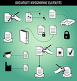 Document Infographic Elements vector image