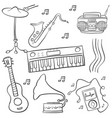 doodle of music various object vector image vector image