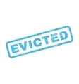 Evicted Rubber Stamp vector image vector image